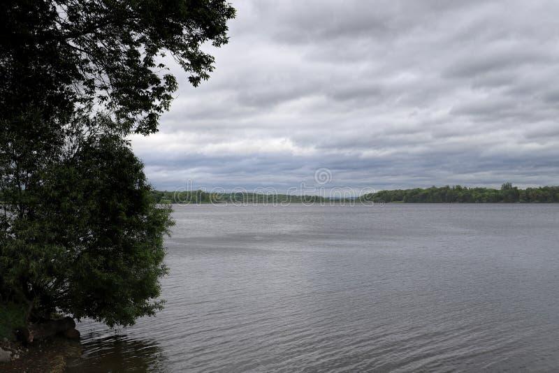 在湖的清早 免版税库存图片
