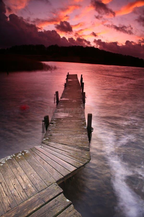 在湖的美好的wiew 免版税库存照片