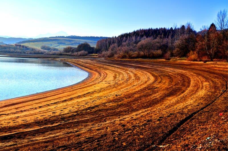 在湖的自然 库存图片