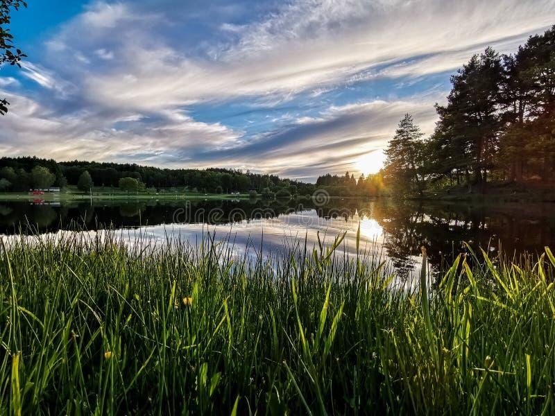 在湖的边缘 免版税图库摄影