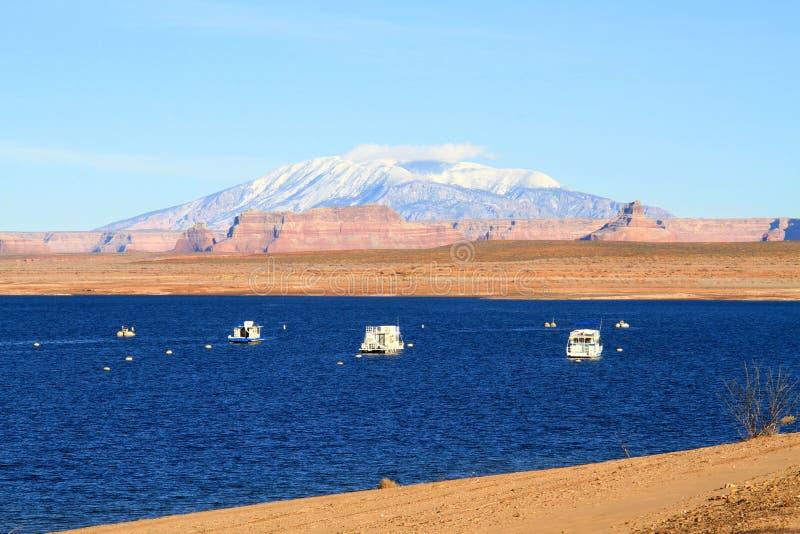 在湖鲍威尔的冬天 库存照片