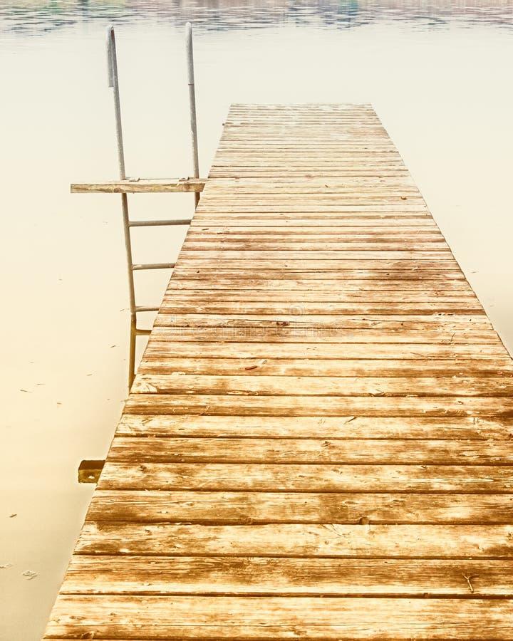 在湖(27)的跳船 库存照片