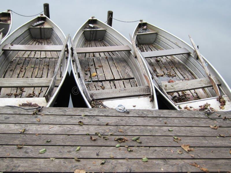 在湖(25)的小船 图库摄影