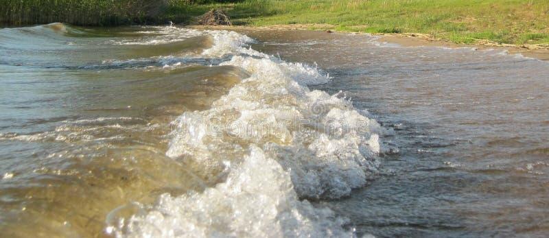 在湖Berezha的波浪 库存图片