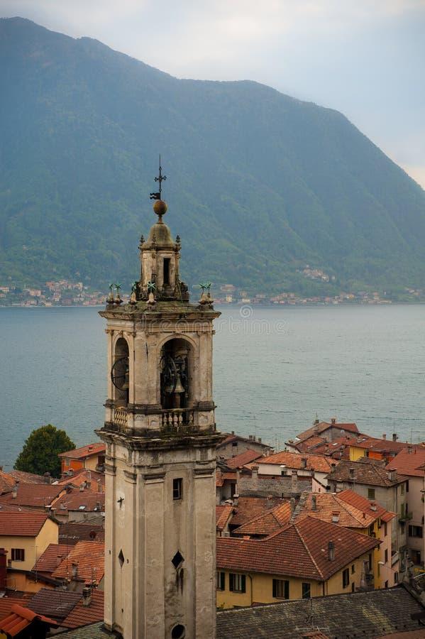 在湖Como的Sala Comacina 库存照片