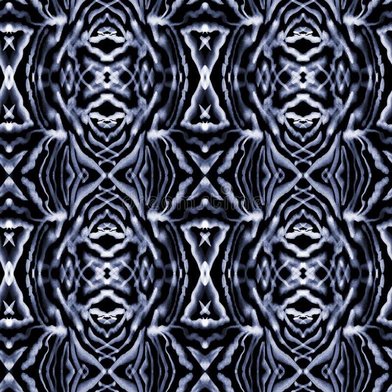 在漂泊样式的水彩装饰抽象无缝的样式 皇族释放例证