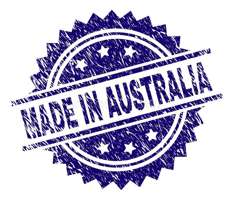 在澳大利亚邮票封印做的被抓的织地不很细 向量例证