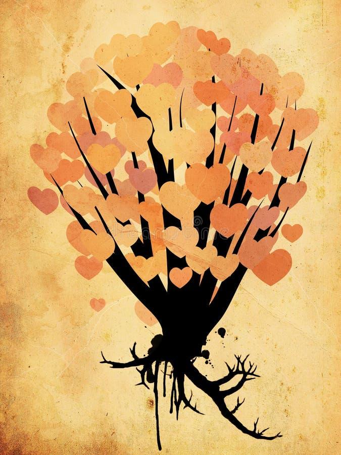 在灌木的难看的东西心脏 库存例证