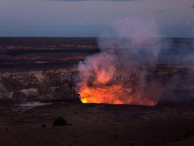 在火山口里面 免版税库存照片