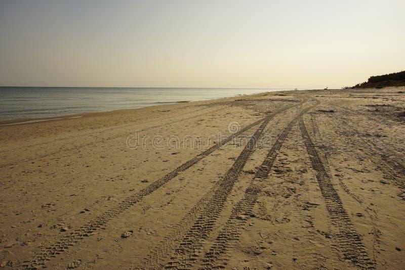 在火星的宇宙海滩 免版税库存图片