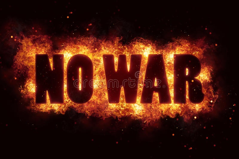在火的战争和平文本不发火焰爆炸燃烧 皇族释放例证