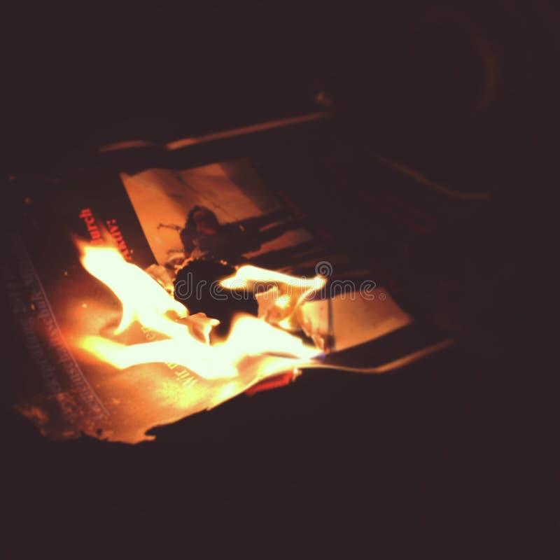 在火的记忆 库存照片