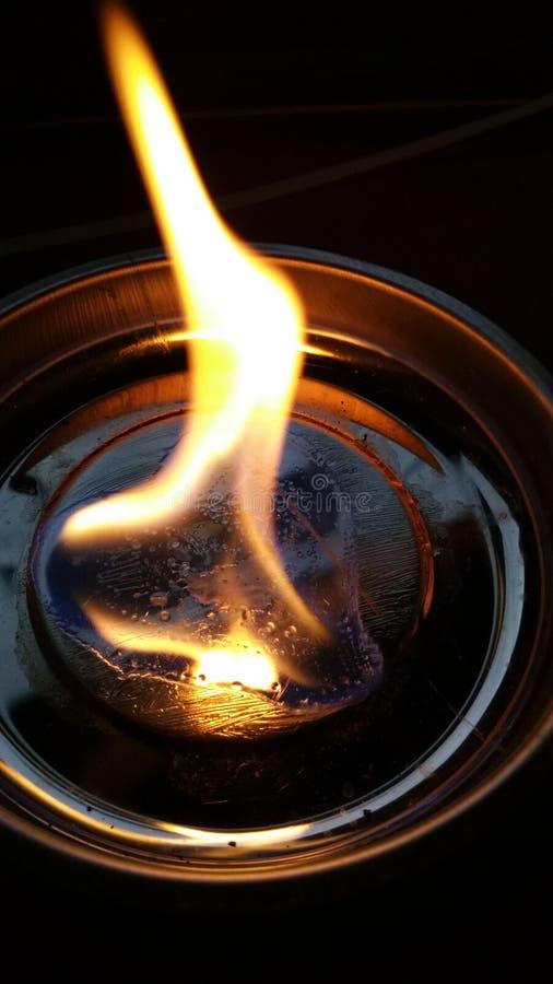 在火的重点 免版税库存照片