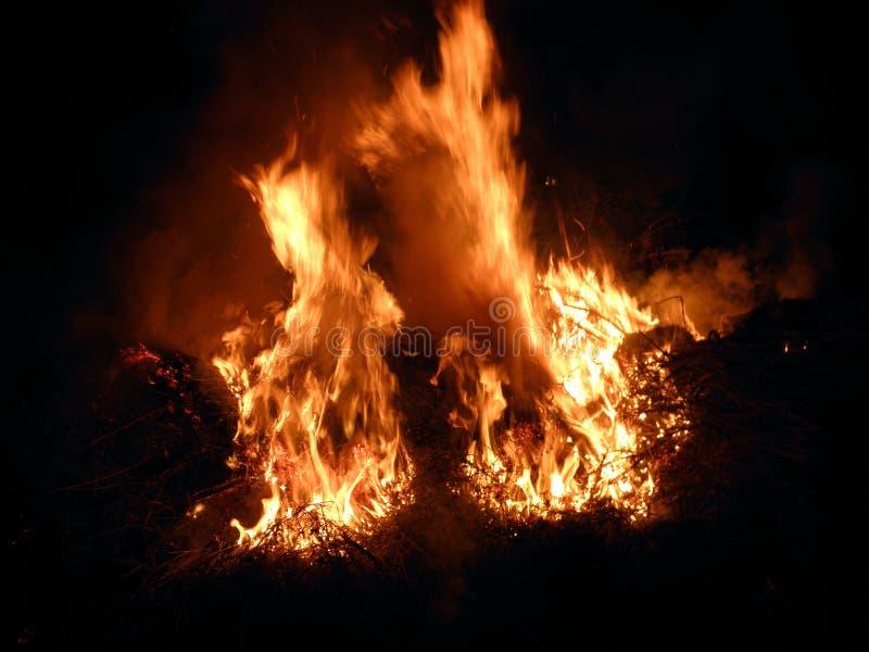 在火的阴影 库存照片