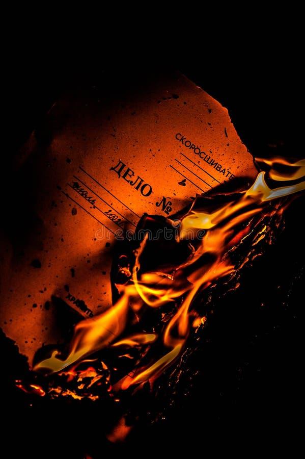 在火的Doc 免版税库存照片