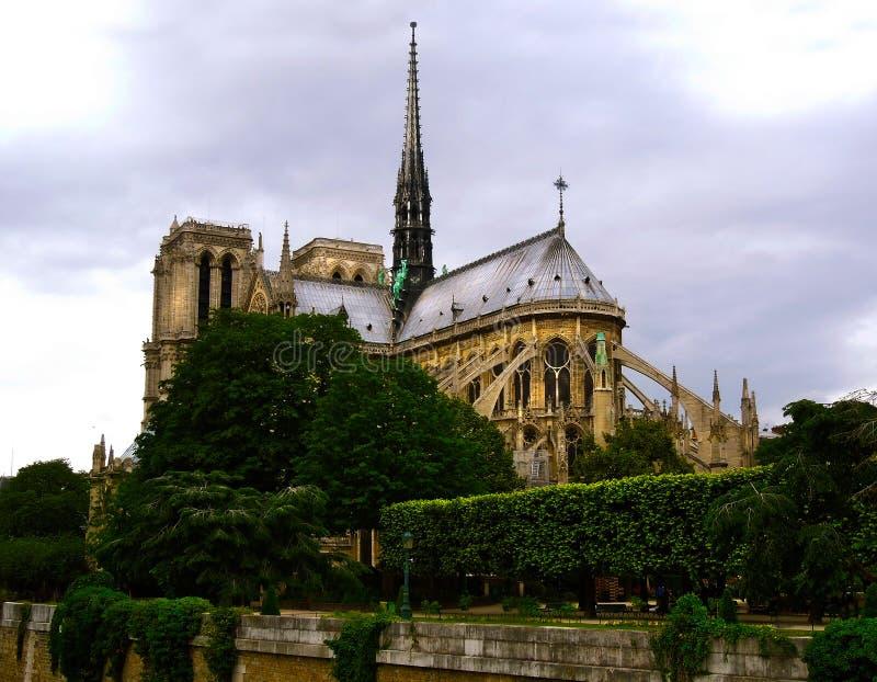 在火破坏前的Notre Dame 库存照片