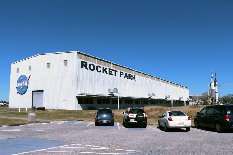 在火箭队公园的土星v 免版税图库摄影