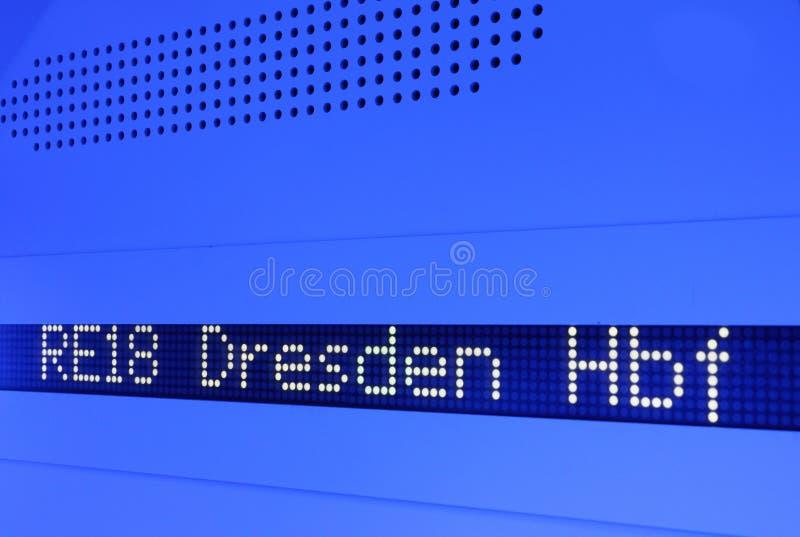 在火车的屏幕 库存图片