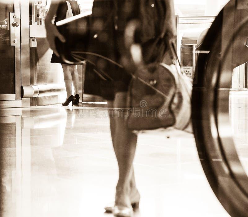 在火车站的旅行图象 免版税库存图片