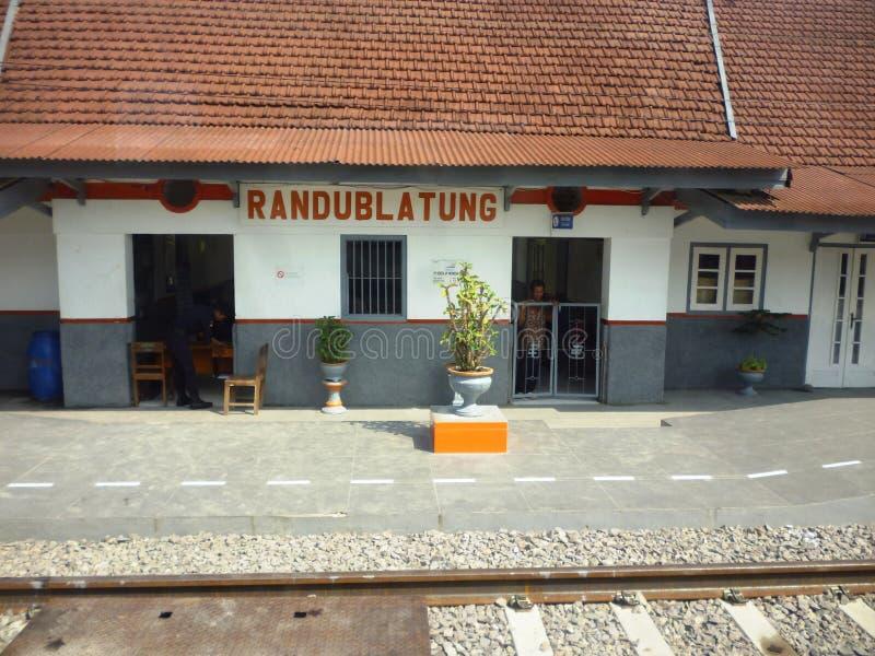 在火车站Blora的熙来攘往 库存图片