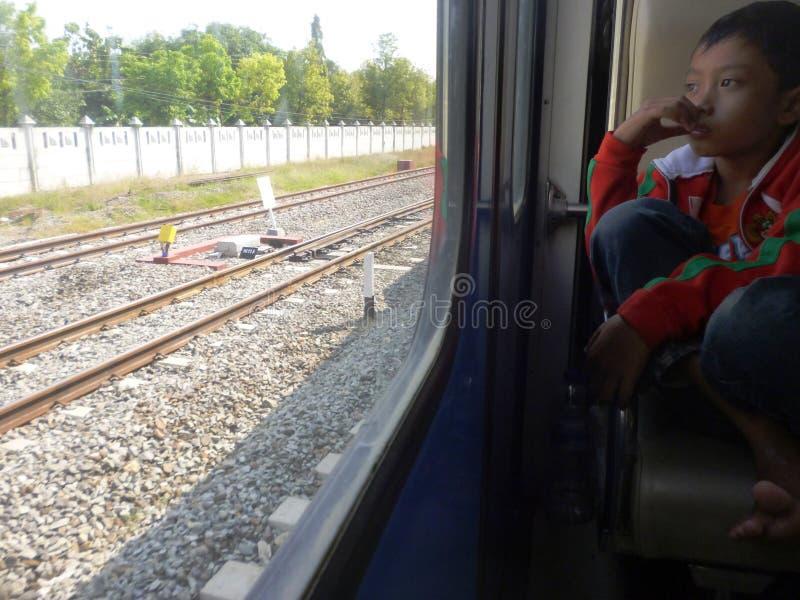 在火车站Blora的熙来攘往 免版税图库摄影