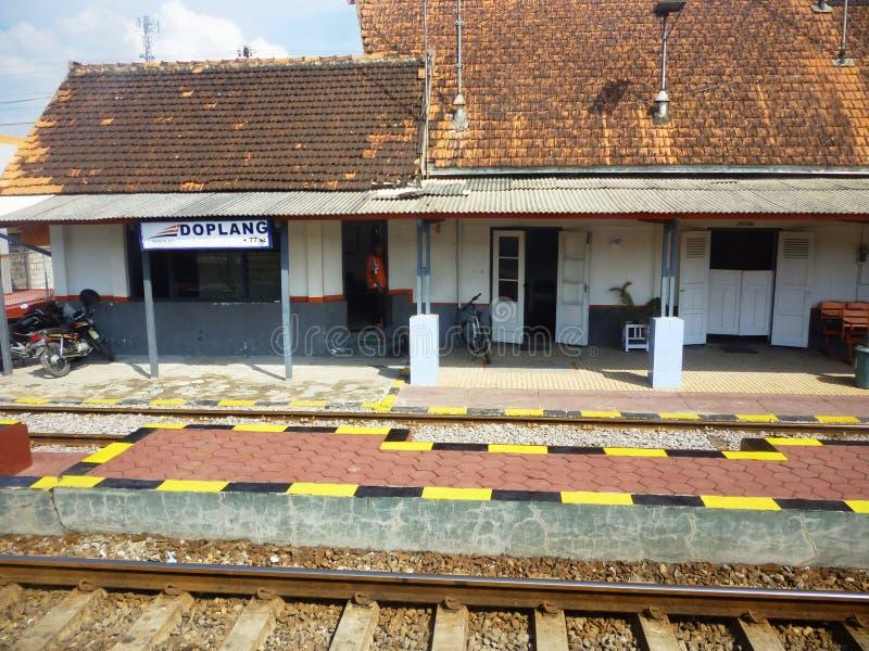 在火车站Blora的熙来攘往 库存照片
