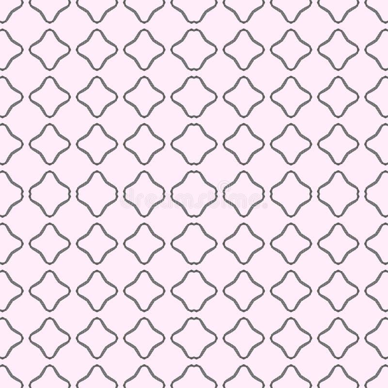 在灰色和桃红色的一个无缝的样式 正方形 在水彩 库存图片