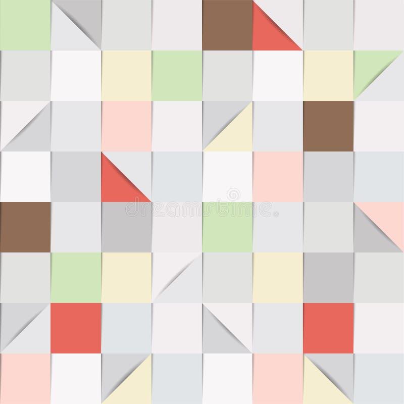 在灰色和淡色口气的纸正方形 库存例证