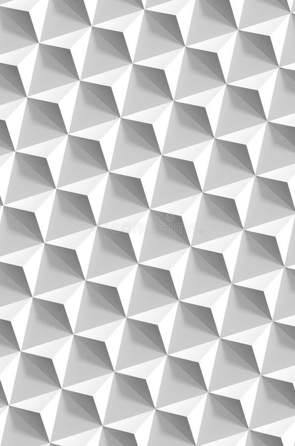在灰色墙壁,垂直的背景,3d的金字塔 库存照片