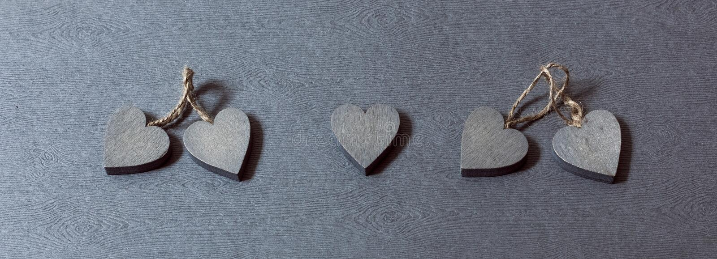 在夫妇中的偏僻的心脏 库存图片
