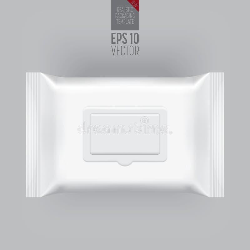 在灰色的空白的包装的模板大模型 向量例证