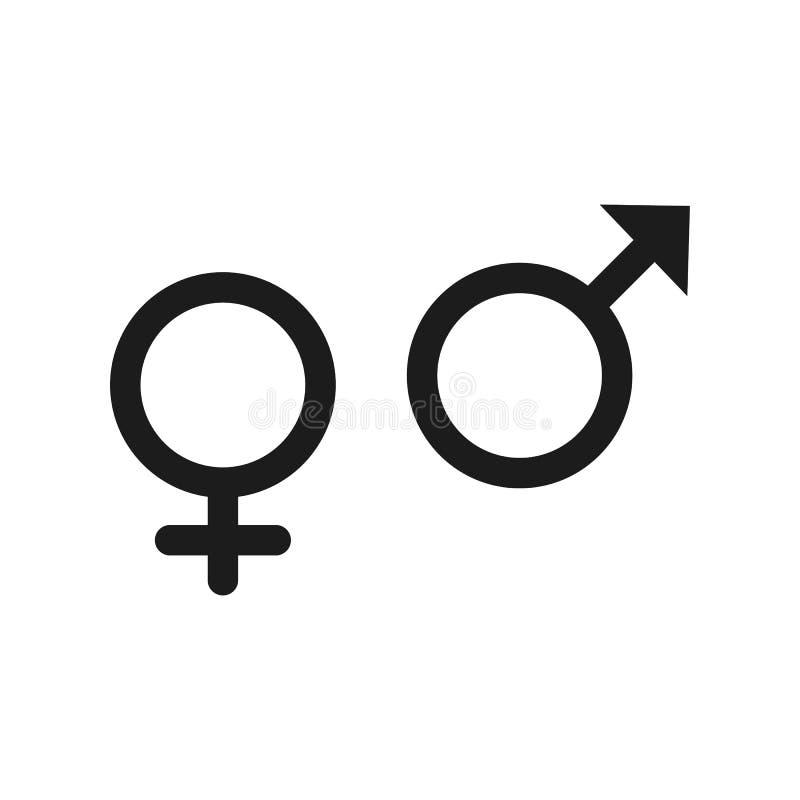 在灰色背景在时髦平的样式的性别象隔绝的 您的网站设计的性别标志,商标, app, UI 库存图片