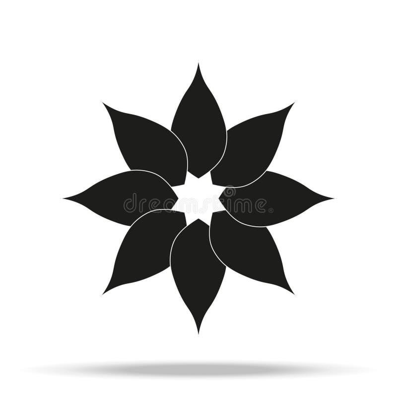 在灰色背景在时髦平的样式的花象隔绝的 您的网站设计的春天标志,商标,应用程序,UI 向量例证