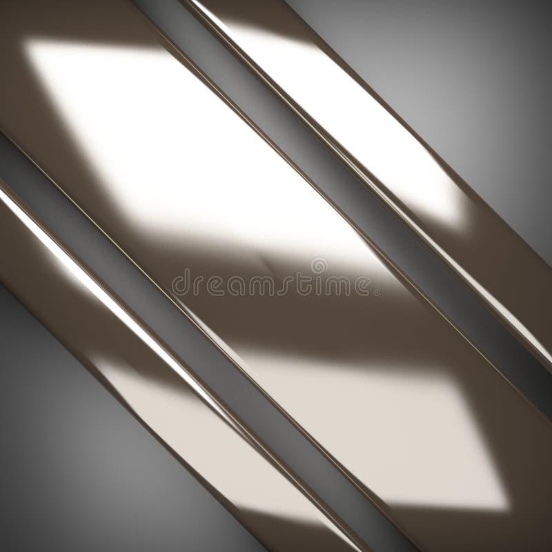 在灰色背景的优美的金属元素 向量例证
