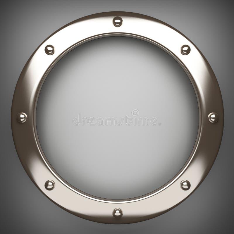 在灰色背景的优美的金属元素 皇族释放例证