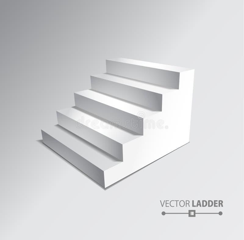 在灰色背景的台阶 步骤 皇族释放例证