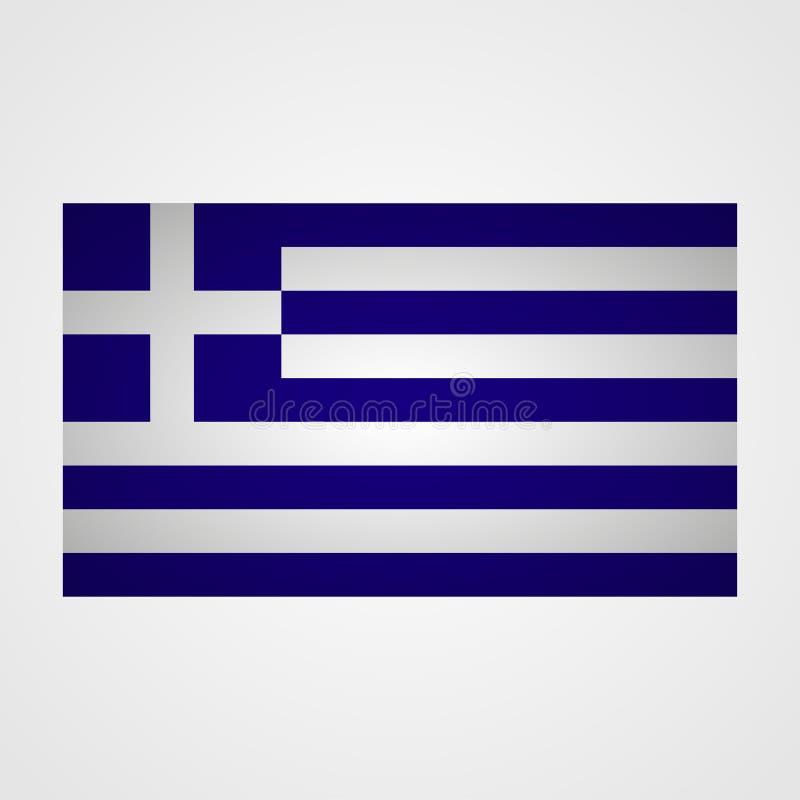 在灰色背景的希腊旗子 也corel凹道例证向量 库存例证