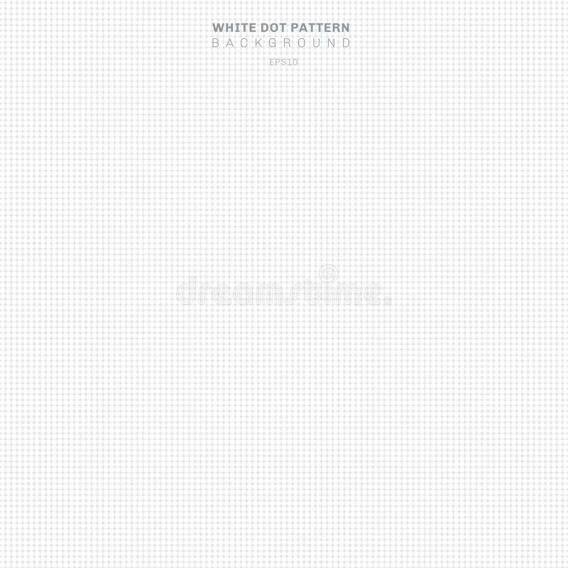 在灰色背景的抽象白色光点图形 圈子无缝的纹理 被加点的中间影调 库存例证