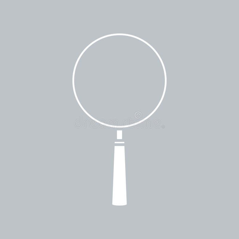 在灰色背景的放大镜象,任何场合的 皇族释放例证