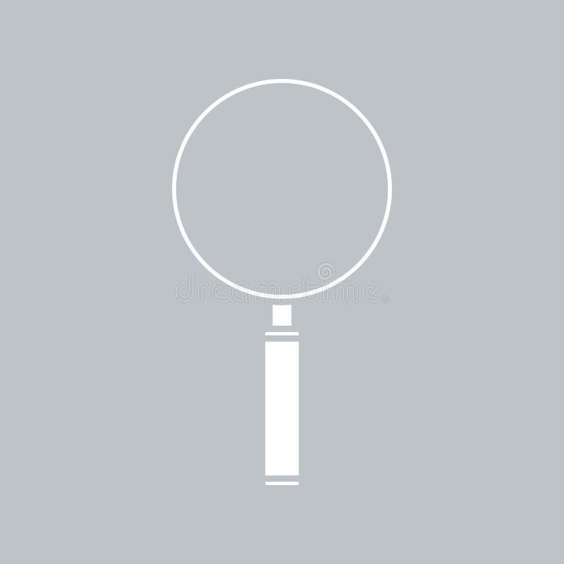 在灰色背景的放大镜象,任何场合的 向量例证