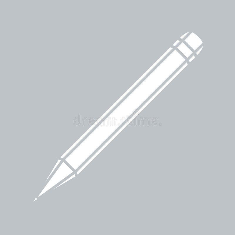 在灰色背景的铅笔平的象,任何场合的 向量例证