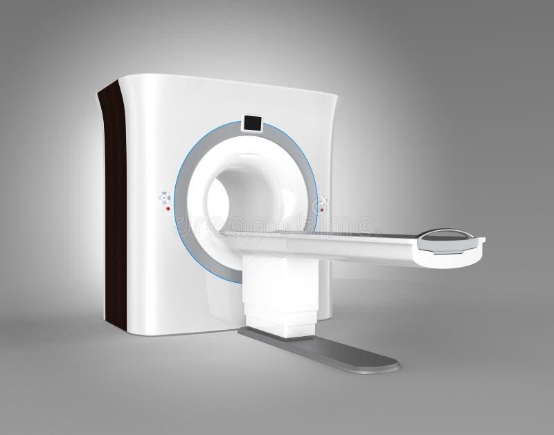 在灰色背景隔绝的MRI (磁反应想象)扫描器 库存例证