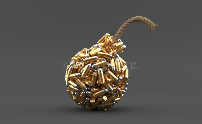在炸弹形状的弹药 皇族释放例证