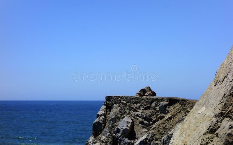 在点Mugu峭壁, SoCal 免版税图库摄影