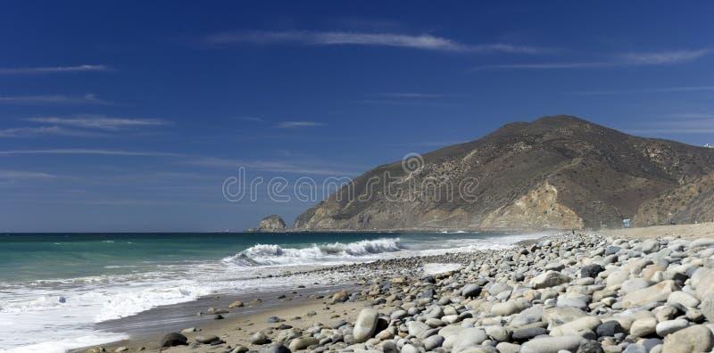 在点Mugu,加州的La Jolla峡谷 库存图片