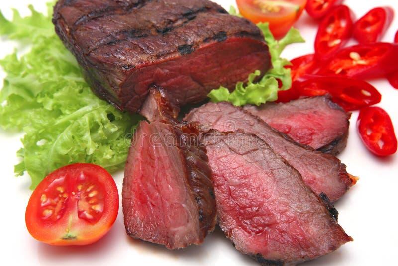 在烘烤白色的肉 免版税图库摄影