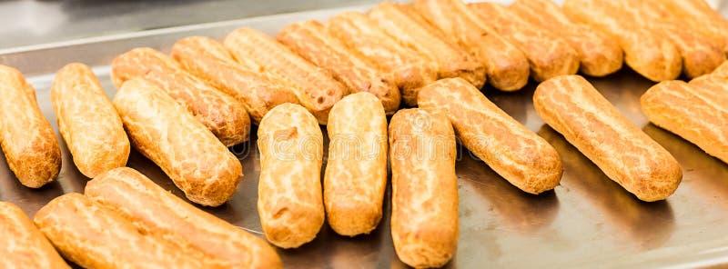 在烤板的小饼 选择聚焦 免版税库存图片