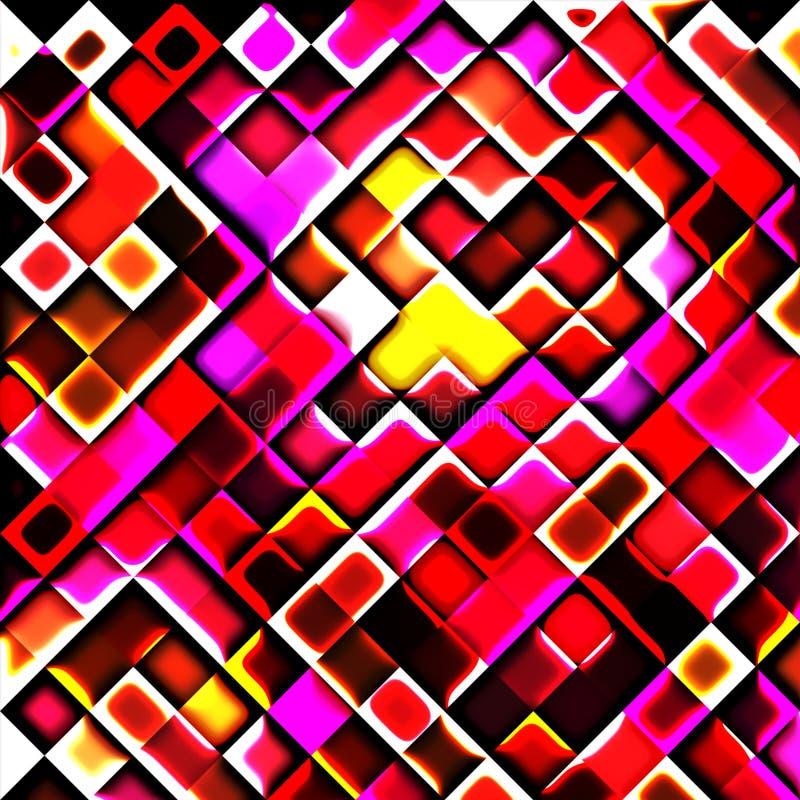在热的颜色的正方形 免版税图库摄影
