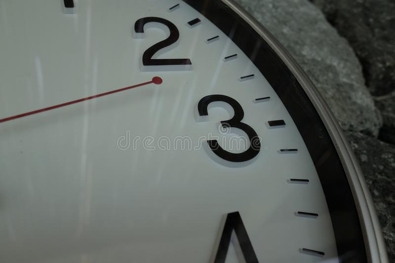 在热量水池附近的时钟 库存图片