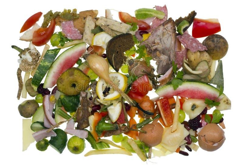 在烹调以后保持的食品废弃部 库存图片